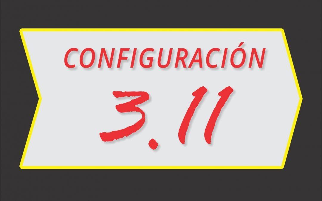 Configuración 3.11